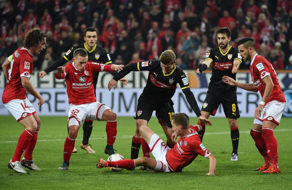 Mainz gegen Stuttgart: Ein umkämpftes Unentschieden.