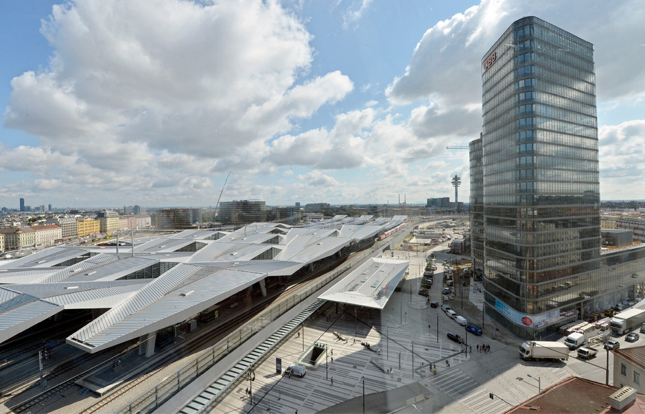 Neue Drehscheibe Wiener Hauptbahnhof.