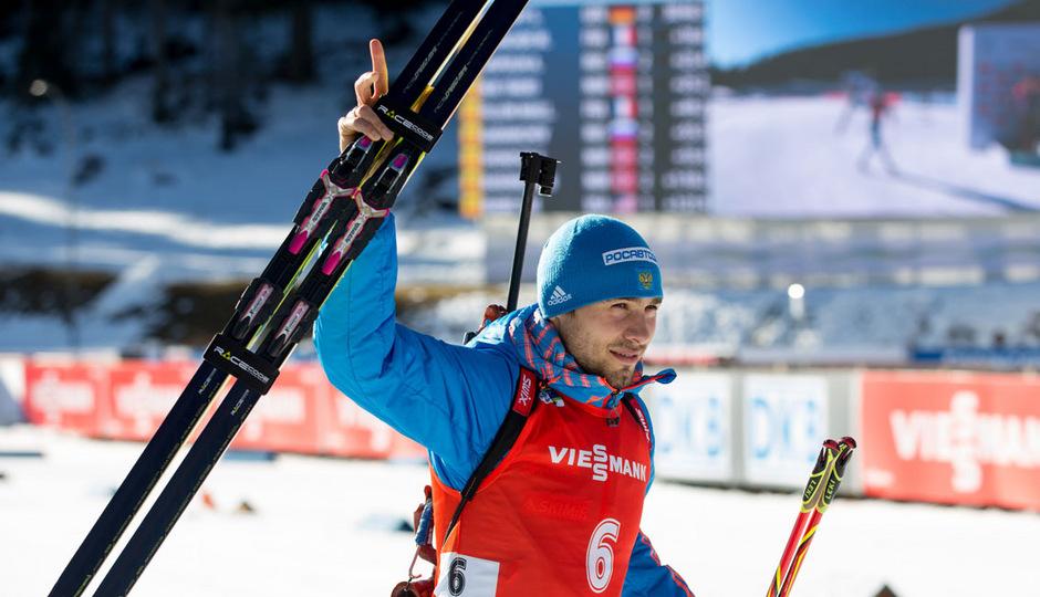 Anton Schipulin triumphierte in der Antholz-Verfolgung.