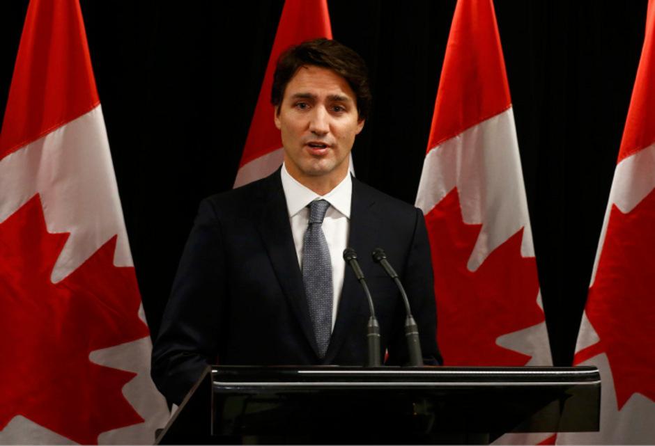 Kanadas Premier Justin Trudeau  spricht über den Amoklauf in der Schule von La Loche.