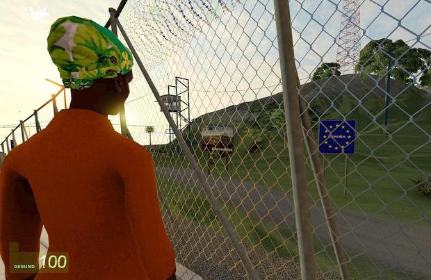 """Aus Österreich stammt das Spiel """"Frontiers"""", in dem man als Flüchtling versucht nach Europa zu kommen."""