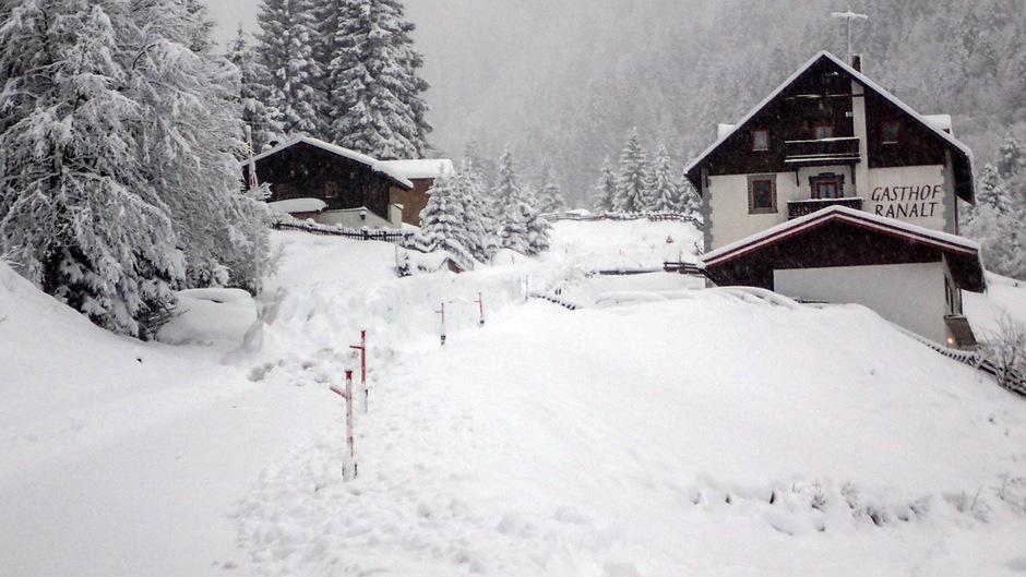 Nach dem Lawinenabgang in Ranalt war der Stubaier Gletscher nicht erreichbar.