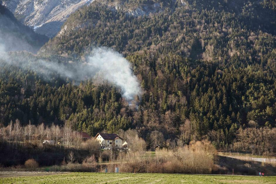 Der Brand ereignete sich oberhalb des Harterhofs.