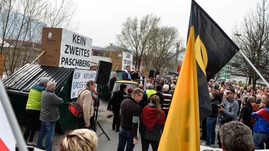 Kundgebung der Interessensgemeinschaft Arzl.