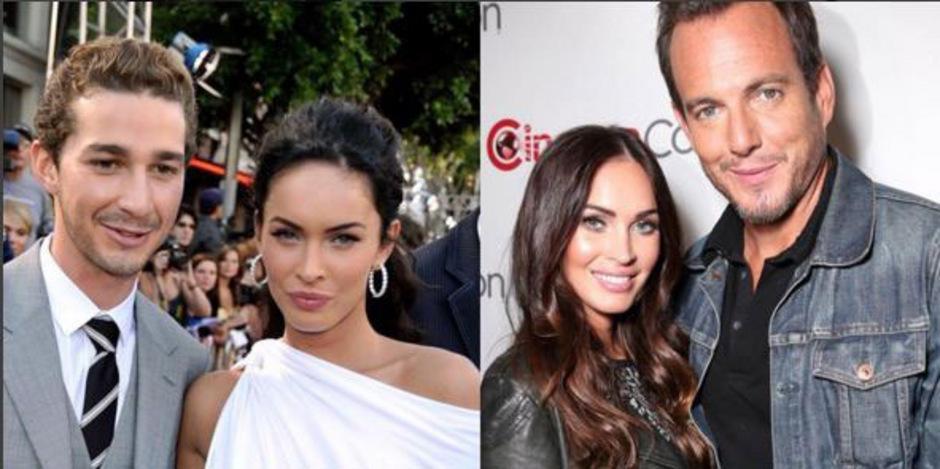 Megan Fox postete auf Instagram Fotos von sich und Schauspielkollegen Shia LaBeouf (li.), Will Arnett (re.) und Jake Johnson (nicht im Bild).