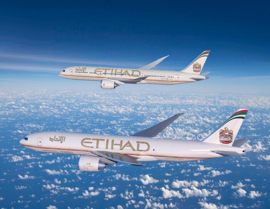 Flugzeuge der arabischen Airline Etihad.
