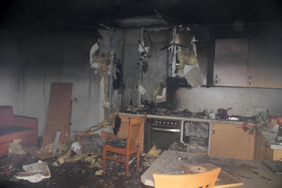 In der Küche einer Ferienwohnung brach das Feuer aus.