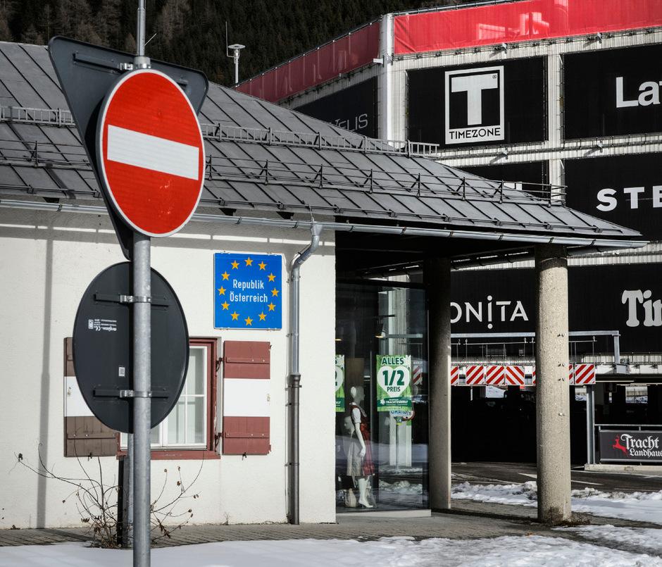 Staatsgrenze Österreich-Italien (Symbolbild).