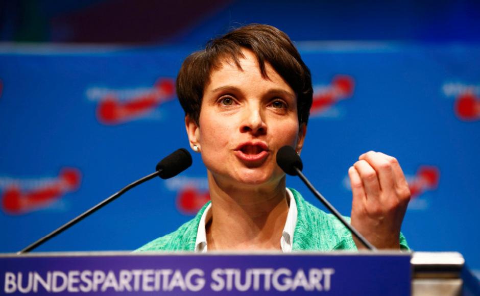 Frauke Petry, umstrittene Vorsitzende der AfD.