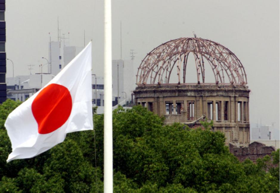 Die beim Atomwaffenangriff zerstörte Kuppel ist noch heute der Mittelpunkt des Kriegsdenkmals in Hiroshima.