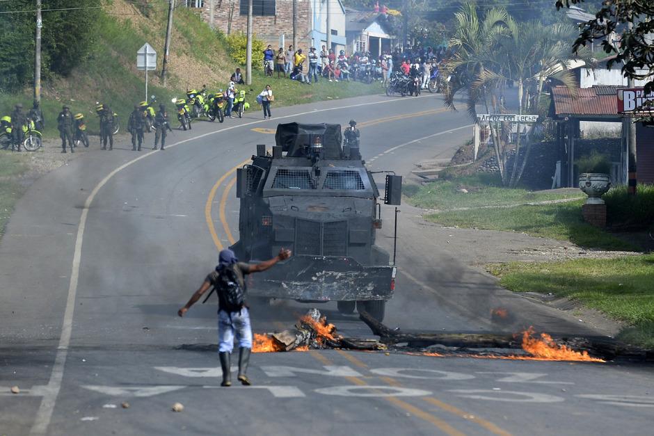 Die Proteste in Kolumbien weiten sich immer mehr aus.