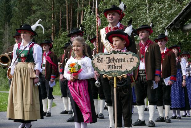 Auch die Jüngeren vertraten ihre Gemeinde St. Johann im Walde standesgemäß.