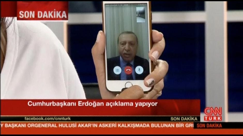 Mittels Handy-Video rief der Präsident die Bevölkerung zum Widerstand auf.