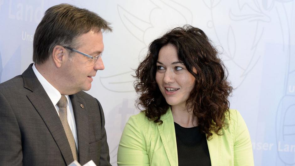Platter (ÖVP) und Felipe (Grüne) würden gerne noch einmal einen Koalitionspakt unterschreiben.