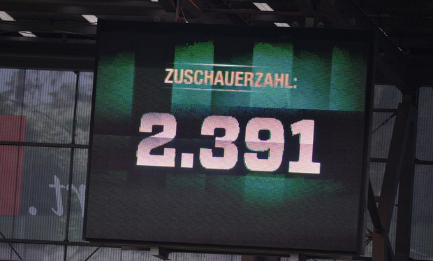Lediglich 2391 Zuschauer fanden gegen Lustenau den Weg ins Tivoli - enttäuschend.