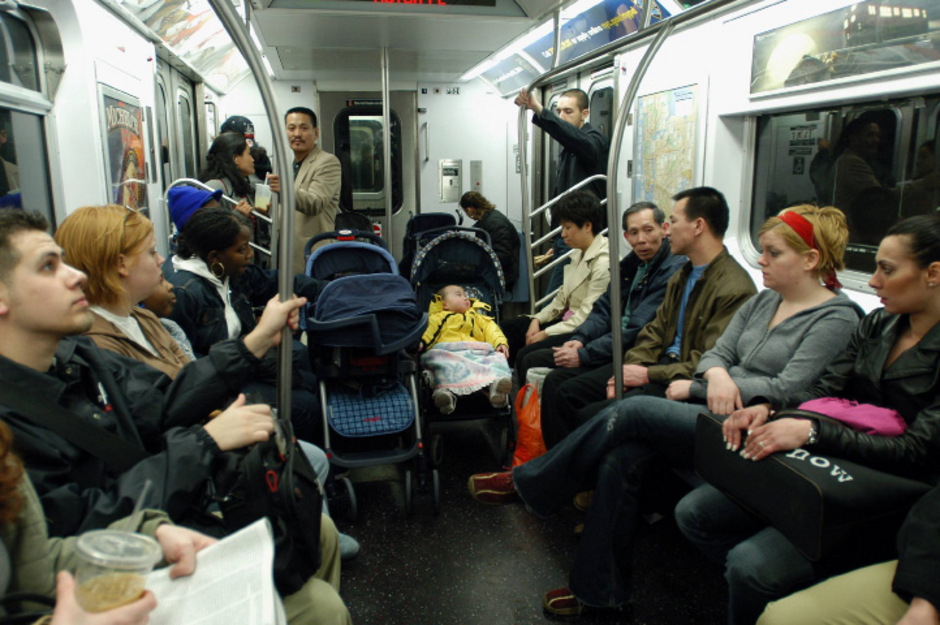 Volle Metro in New York.