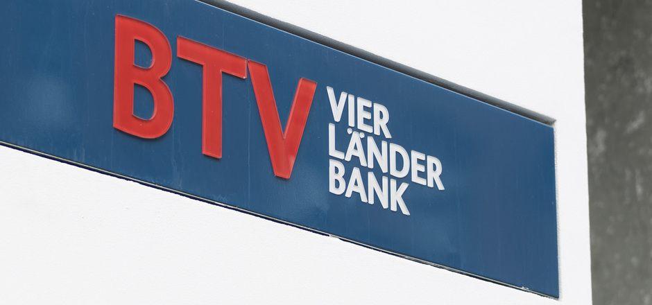 Das Logo auf der BTV-Zentrale in Innsbruck.