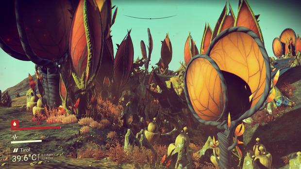 Schöner als die Tierwelt ist oft die Flora eines neuen Planeten anzusehen.