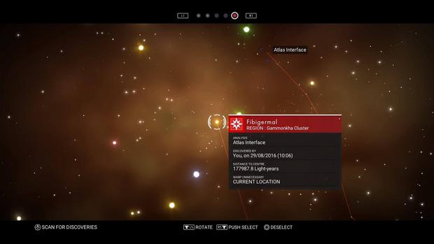Über die Galaxie-Karte können wir von System zu System reisen.