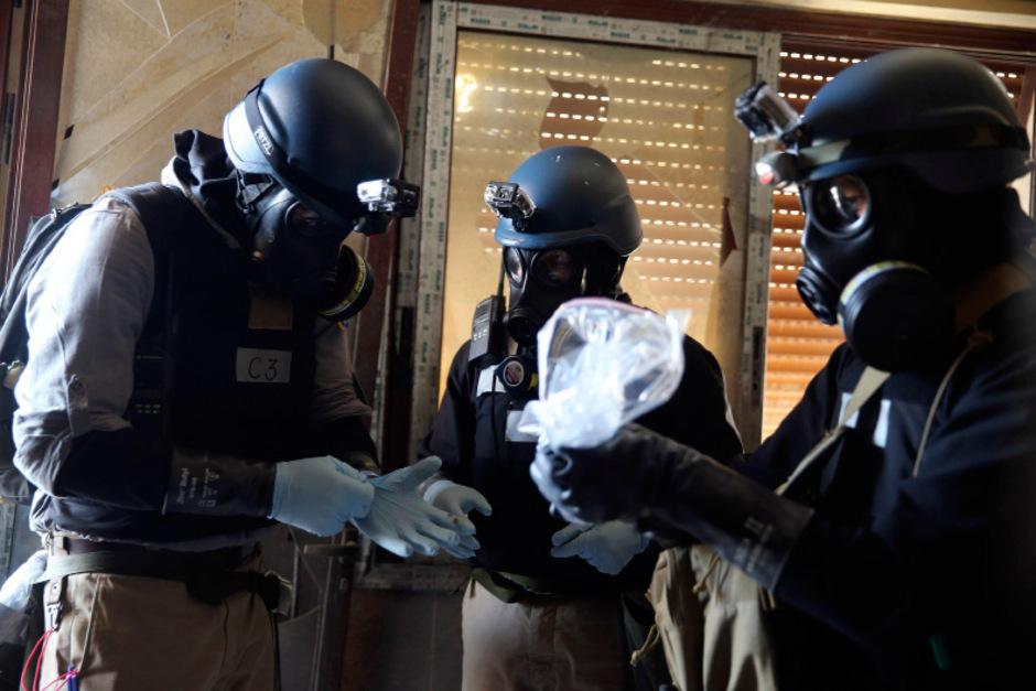 OPCW-Inspektoren während ihrer Mission in Syrien im Sommer 2013.