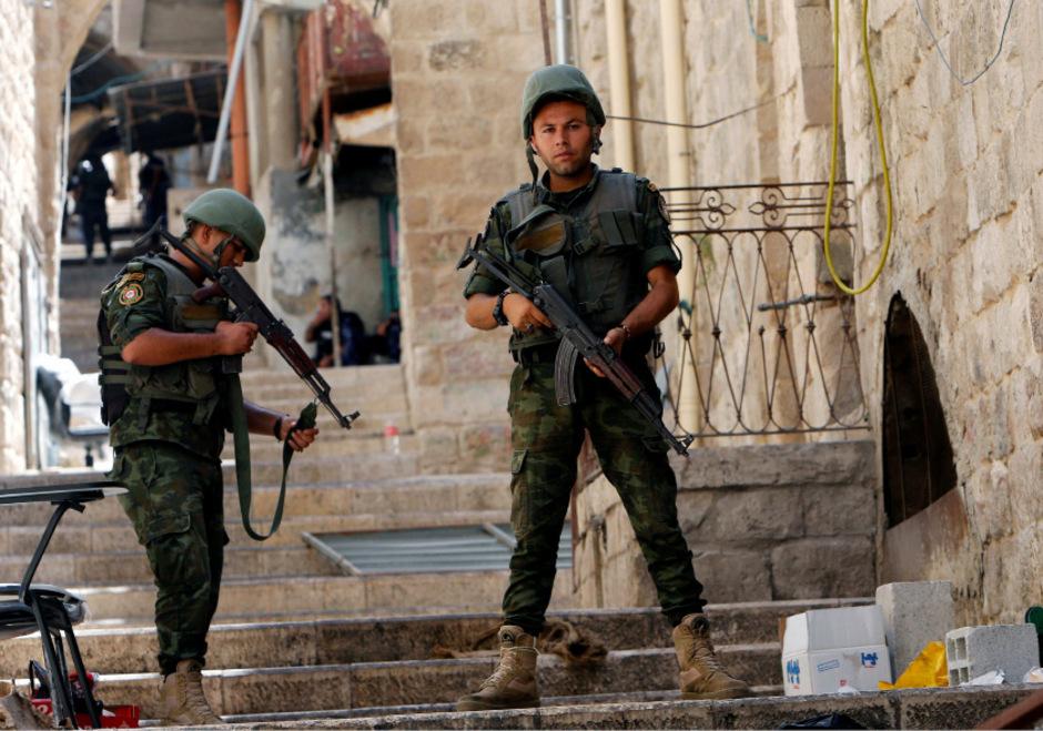 Palästinensische Polizisten in Nablus.