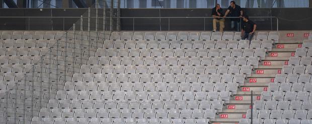 Erschreckend viele Sitze blieben bei den letzten beiden Heimspielen der Schwarz-Grünen leer.