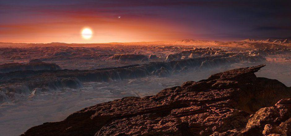 Eine virtuell gestaltete Oberfläche von Proxima b: Der Astronom Guillem Anglada-Escude hat den erdnähesten Exo-Planeten heuer gemeinsam mit seinem Team entdeckt.