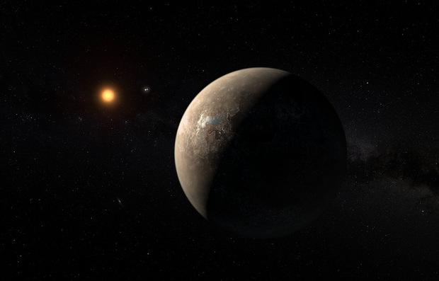 Künstlerische Darstellung des Planeten Proxima Centauri b.