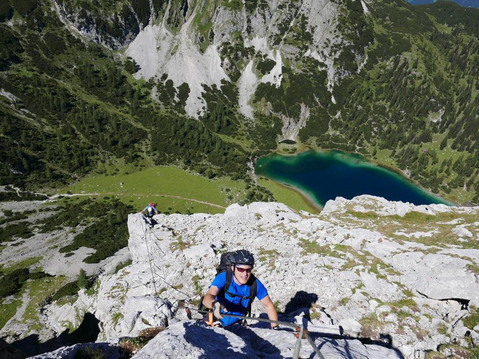 Klettersteig Ehrwald : Tajakante klettersteig zwei seen zu füßen tiroler tageszeitung