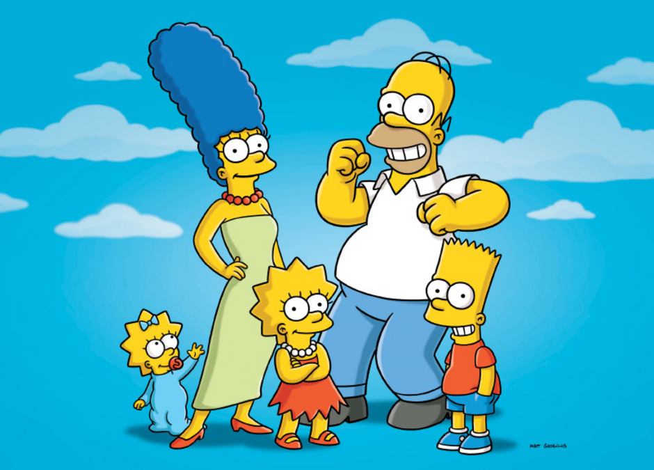 """""""The Simpsons"""": Maggie, Marge, Lisa, Homer und Bart."""