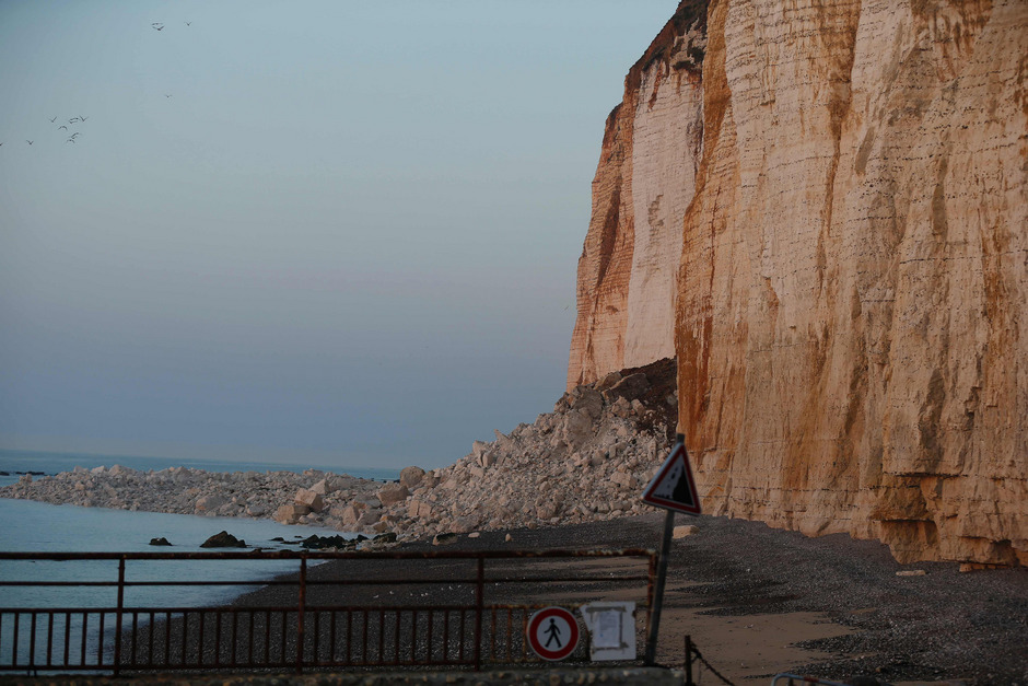 Der Felssturz in der Normandie.