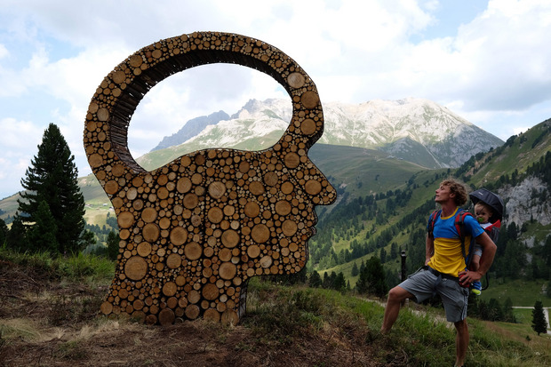 Kunst am Berg, eine Strecke mit internationalen Werken.