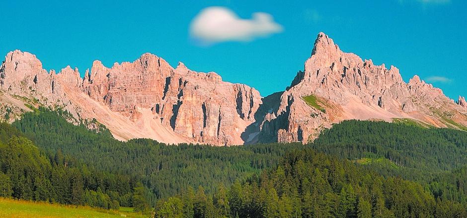 Teil des Unesco-Welterbe Dolomiten: der Latemar-Gebirgsstock.