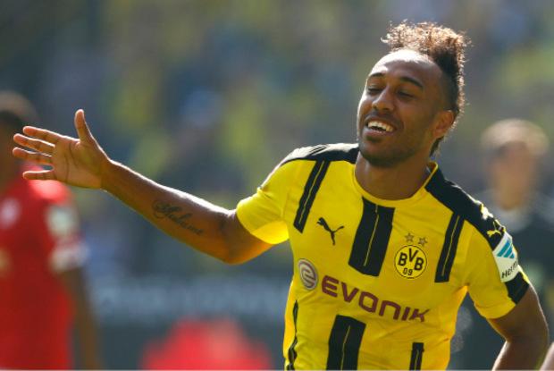 Pierre-Emerick Aubameyang schoss Dortmund mit zwei Treffern quasi im Alleingang zum Sieg.