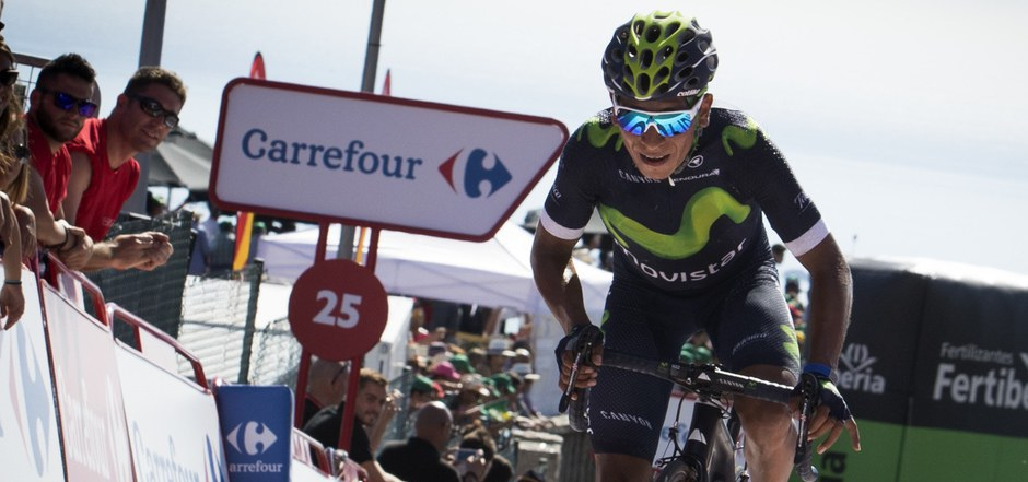 Bergspezialist Nairo Quintana strampelte bei der Vuelta zur Gesamtführung.
