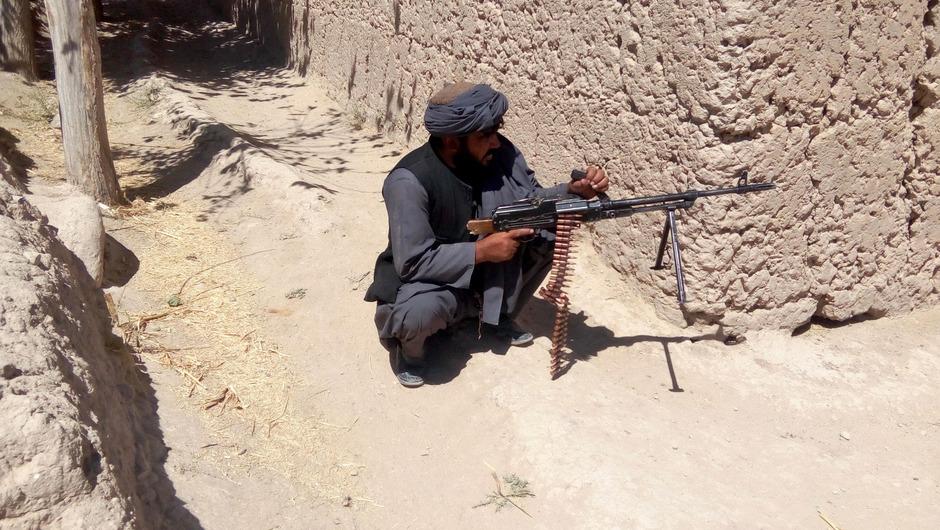 Ein Soldat der afghanischen Armee in Tarin Kot.