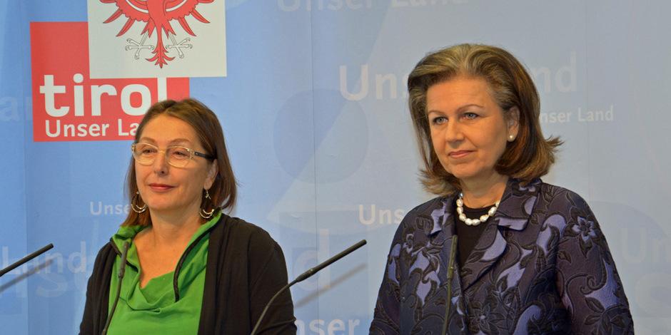 Christine Baur (l.) und Patrizia Zoller-Frischauf präsentierten die Soziale Dienste GmbH.