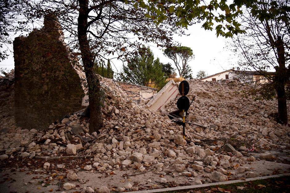 Der historische Stadtkern von Norcia liegt in Trümmern.
