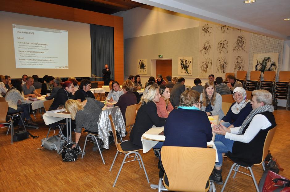 Unter der Moderation des Büros Co:retis wurden von den Teilnehmern Ist-Zustand und Bedarf diskutiert.