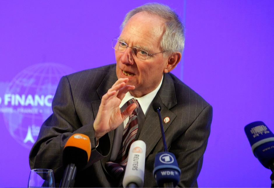 Deutschlands Finanzminister Wolfgang Schäuble (CDU)