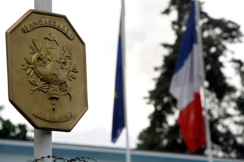 Die französische Botschaft in Ruandas Hauptstadt Kigali.