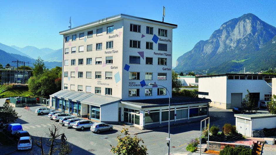 Die Zentrale von Würth-Hochenburger  in Innsbruck.