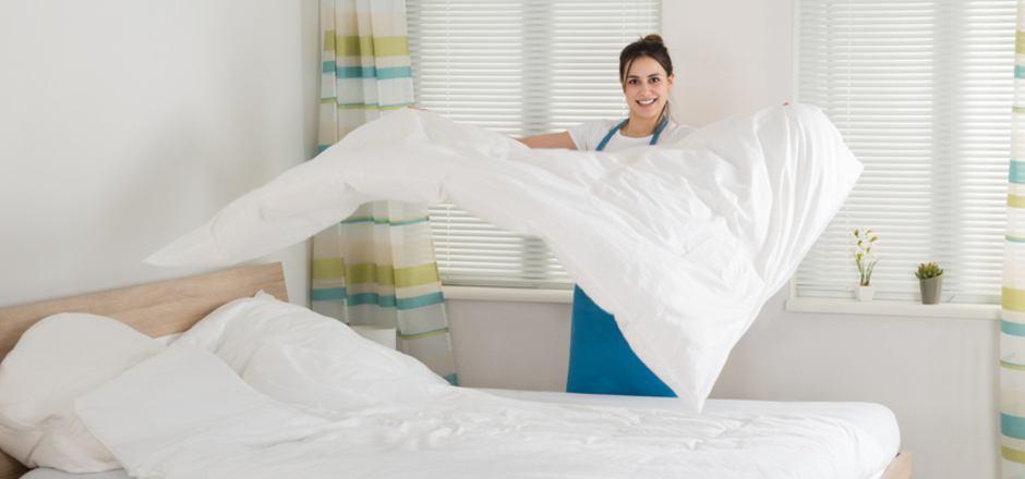 Die Zimmermädchen hatten in den Betrieben im Hochtal alle Hände voll zu tun.