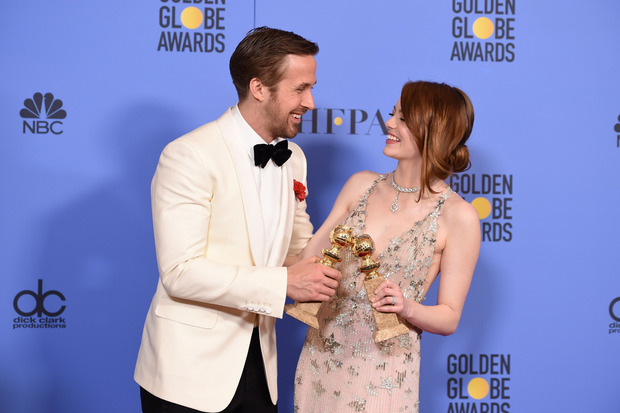 Ryan Gosling und Emma Stone waren auch beim traditionellen Oscar-Lunch dabei.