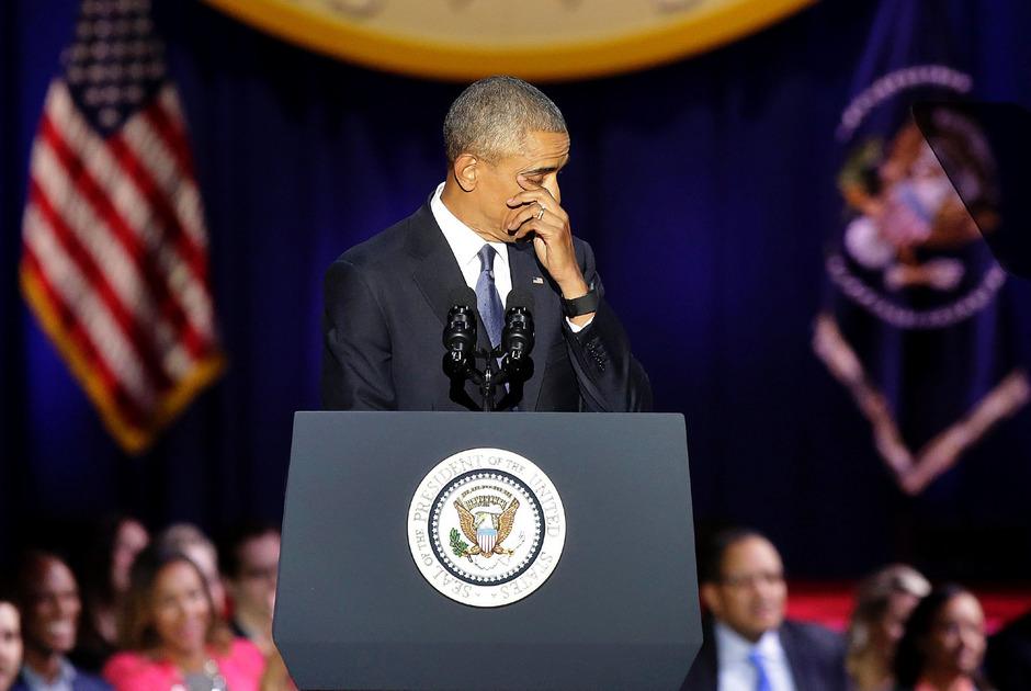 Barack Obama musste während seiner Rede weinen. Mit seinen Tränen war er nicht alleine.
