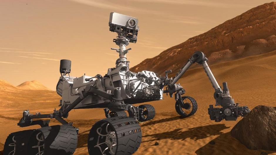"""""""Curiosity"""" landete im August 2012 auf dem Mars."""