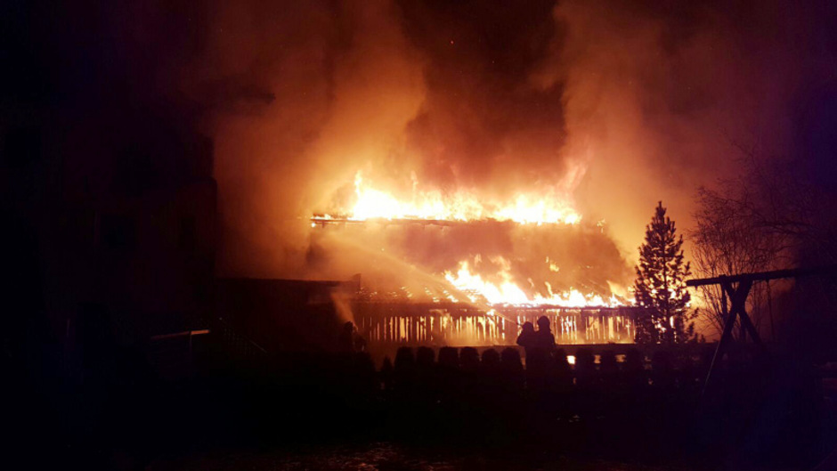 Der Brand in Forchach kann nicht mehr aufgeklärt werden.