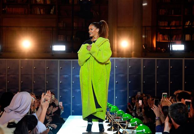 """Die Schau der """"Fenty""""-Kollektion von Popstar Rihanna für den Sportartikelhersteller Puma."""