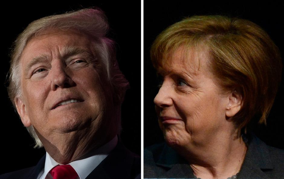 Angela Merkel besucht erstmals den neuen US-Präsidenten Donald Trump. Das deutsch-amerikanische Verhältnis gilt durch Trumps scharfe Kritik an Merkels Flüchtlingspolitik und seine Drohung mit Importzöllen als belastet.