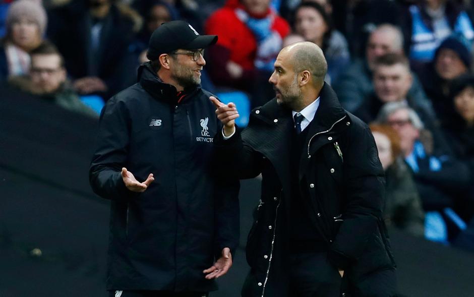 Hatten Redebedarf: Klopp (l.) und Guardiola.